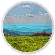 Great Smoky Mountain Afternoon Round Beach Towel