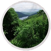 Great Smoky Mountains Round Beach Towel by Cathy Harper