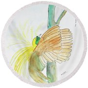 Greater Bird Of Paradise Round Beach Towel
