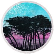 Grecian Sunset Round Beach Towel