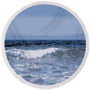 Greek Waves - 1 Round Beach Towel
