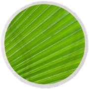 Green Abstract No. 1 Round Beach Towel