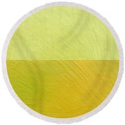 Green And Greenish Round Beach Towel by Michelle Calkins