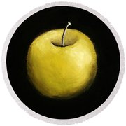 Green Apple Still Life 2.0 Round Beach Towel