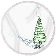 Green Bead Christmas Tree II Round Beach Towel