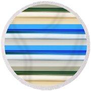 Green Blue Green Round Beach Towel