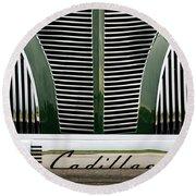 Green Cadillac Round Beach Towel