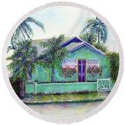 Green Cottage Round Beach Towel