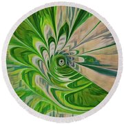 Green Energy Spin Round Beach Towel