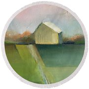 Green Field Round Beach Towel
