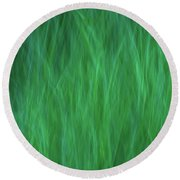 Green Fire 2 Round Beach Towel
