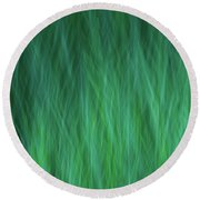 Green Fire 3 Round Beach Towel