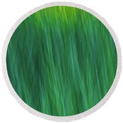 Green Fire 4 Round Beach Towel
