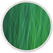 Green Fire 6 Round Beach Towel