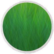 Green Fire 7 Round Beach Towel
