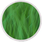 Green Fire 8 Round Beach Towel