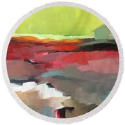Green Flash Round Beach Towel