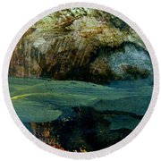 Green Fog Round Beach Towel by Nancy Kane Chapman