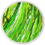 Green Garden Round Beach Towel by ABeautifulSky Photography