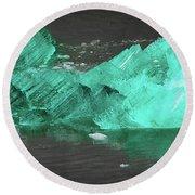 Green Iceberg Round Beach Towel