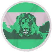 Green King Round Beach Towel
