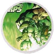 Green Lantern Corps Round Beach Towel