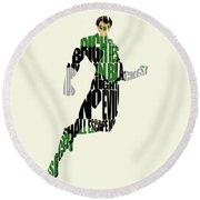 Green Lantern Round Beach Towel