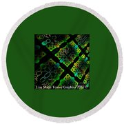 Green Light Round Beach Towel