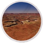 Green River Overlook Round Beach Towel by Brenda Jacobs
