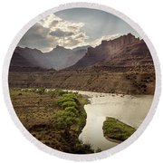 Green River, Utah Round Beach Towel