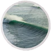 Green Rollers Round Beach Towel