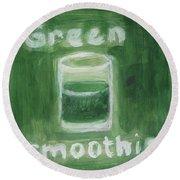 Green Smoothie Round Beach Towel