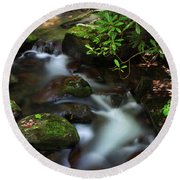 Green Stream Round Beach Towel