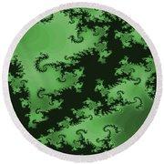 Green Swirl Round Beach Towel