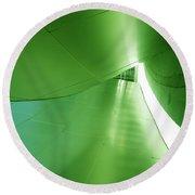 Round Beach Towel featuring the photograph Green Tunnel. Los Angeles Series. by Ausra Huntington nee Paulauskaite
