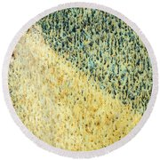 Green/yellow Abstract Two Round Beach Towel