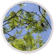 Greenery Right Panel Round Beach Towel