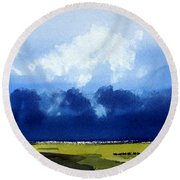 Greening Savannah II Round Beach Towel