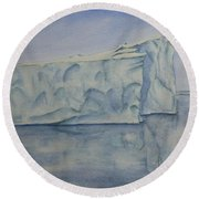 Greenland's Iceberg Round Beach Towel
