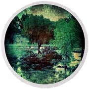 Greenscape Round Beach Towel