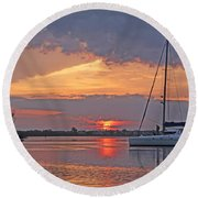 Greet The Day Round Beach Towel by HH Photography of Florida