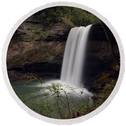 Greeter Falls Round Beach Towel