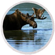 Greeting Round Beach Towel