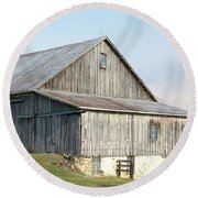 Rustic Barn Round Beach Towel