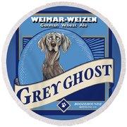Grey Ghost Weimar-weizen Wheat Ale Round Beach Towel