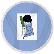 Round Beach Towel featuring the digital art Griffe by ReInVintaged