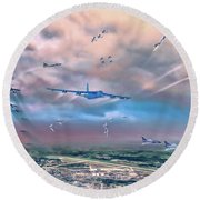 Griffiss Afb Rome Ny Round Beach Towel by Dave Luebbert