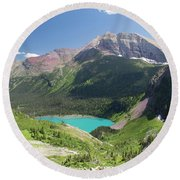 Grinnell Lake - Glacier National Park Round Beach Towel