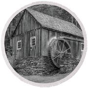Round Beach Towel featuring the photograph Grist Mill by Guy Whiteley