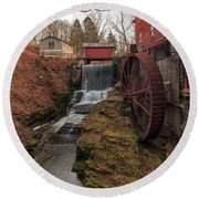 Round Beach Towel featuring the photograph Grist Mill II by Rod Best